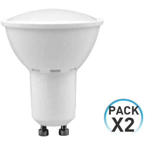 Pack 2 Bombillas LED Spotlight GU10 6W Equi.50W 540lm 25000H 7hSevenOn LED