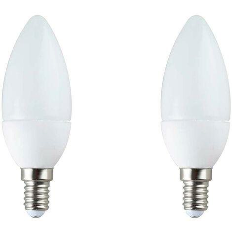 Pack 2 Bombillas LED Vela E14 6W Equi.40W 470lm 25000H 7hSevenOn LED