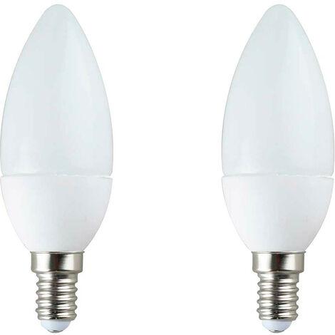 Pack 2 Bombillas LED Vela E14 7,4W Equi.60W 806lm 3000K 25000H 7hDayron