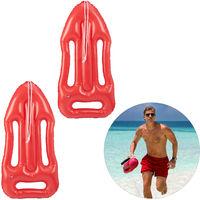 Pack 2 Boyas Inflables para Disfraz o Decoración, Plástico, Rojo, 7 x 30 x 64 cm
