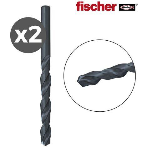 PACK 2 BROCAS METAL HSS-R DIN338 4,0X43/75 / 2K FISCHER