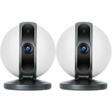 Pack 2 Cámaras de Vigilancia WiFi Motorizadas 360° vía Smartphone/APP