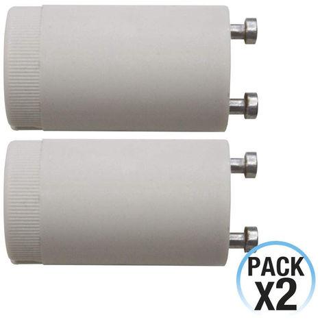 Pack 2 Cebadores para Tubo Fluorescente Blanco 7hSevenOn Elec