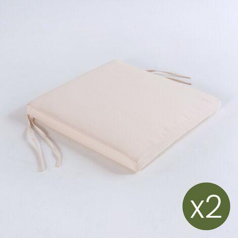 Pack 2 Cojines Para Sillas De Jardin Tamano 44x44x5 Cm