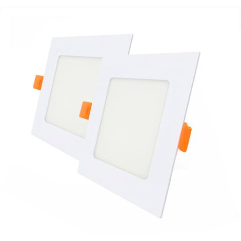 Pack 2 Downlight LED Cuadrado para Encastrar Blanco