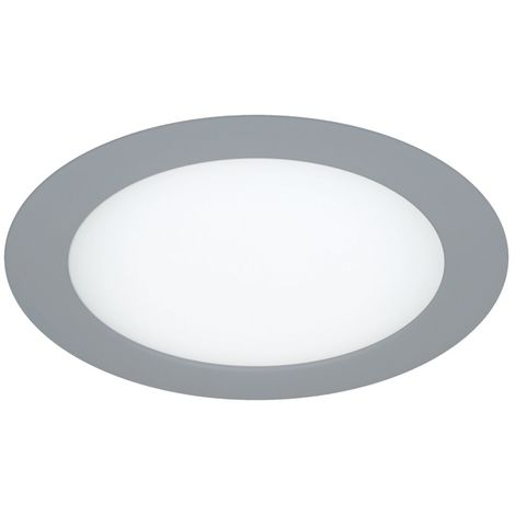 Pack 2 Downlights led redondo gris (18W)