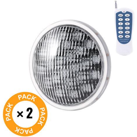Pack 2 Foco de Piscina LED Par 56 Multicolor Mando a Distancia 25W | RGB (KD-PAR56-25W-RGB-PK2-AP)