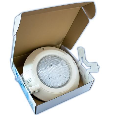 Pack 2 Focos LED de Superficie para Piscina RGBV+ Cable de 4 Hilos 18W IP68 + Controlador WIFI Apto para Sistemas Domoticos como Alexa