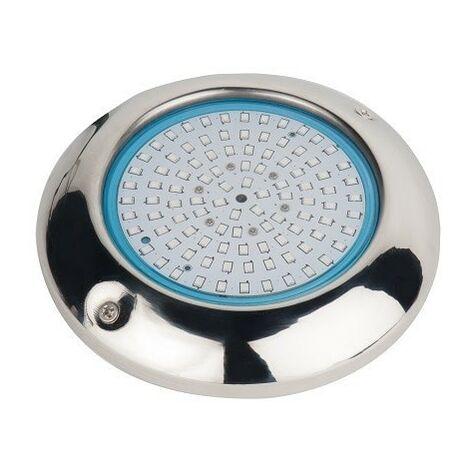 Pack 2 Focos LED de Superficie RGB Para Piscina Ø15 15W Acero Marino, Control Remoto y transformador