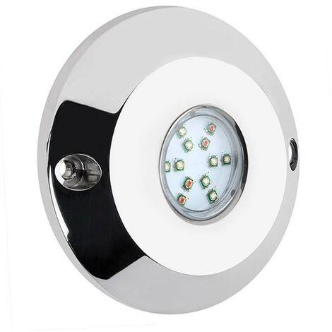 Pack 2 Focos para Piscina LED 60W Blanco Acero AISI 316L con Control Remoto y Transformador