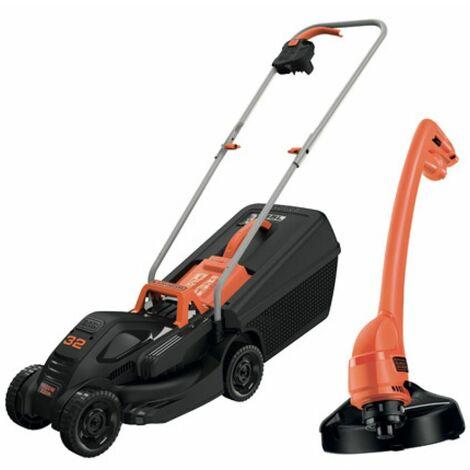 Pack 2 outils Tondeuse électrique à gazon 1000 W + Coupe bordure 250w Black+Decker DUOKIT B+D 230V
