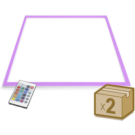 Pack 2 Paneles FRAMELUX, 24W, RGB, 60x60 cm, RGB - RGB