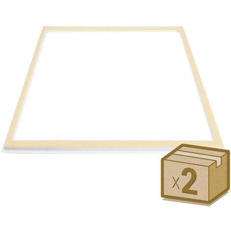 Pack 2 Paneles FRAMELUX, 36W, CCT, 60x60 cm, Blanco dual