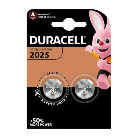 Pack 2 piles bouton cr2025 duracell
