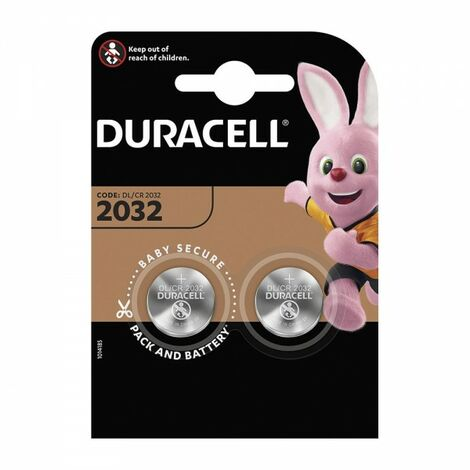 Pack 2 piles bouton cr2032 duracell