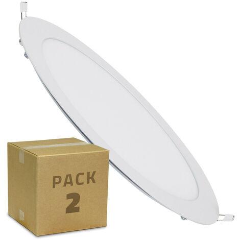 Pack 2 Placa LED Circular 18W Blanco Neutro 4000K - 4500K