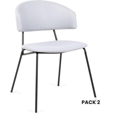 Pack 2 sillas comedor nordicas silla diseño nordico dormitorio