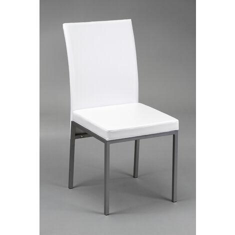 Pack 2 sillas de salón lux blancas o negras