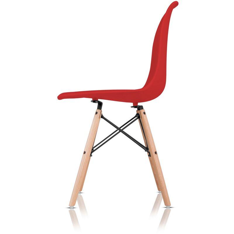 2 Sillas rojas de diseño retro estilo RCD-7189R pack 2 sillas McHaus ...