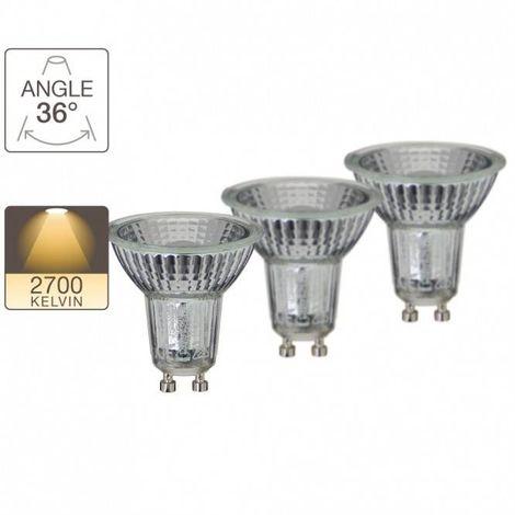 Pack 2 spots + 1 gratuite, GU10 LED-X 50W XANLITE - PACK21RCXG50S