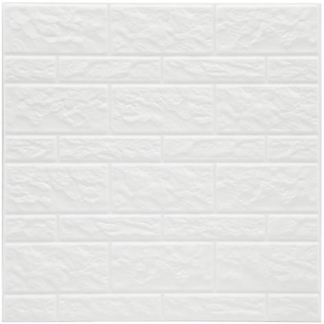 Pack 2 Sticker Imitacion Muro Color Blanco 30X30Cm - NEOFERR