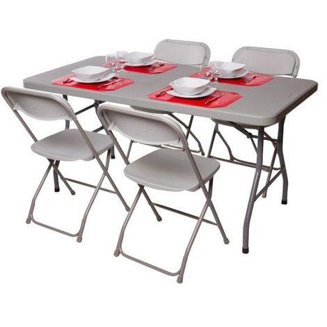 Pack 2 tables polyéthylènes 152cm et 8 chaises polypropylène - 3