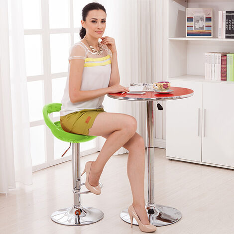 Pack 2 Taburetes de Bar ABS con respaldo - regulables en altura (55-75cm),para Cocina