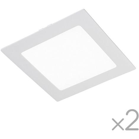 Pack 2 x Downlight LED cuadrado Extraplano 18W-6000ºK (blanco)
