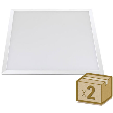 Pack 2 x Panel Led Backlight 40W + TUV driver, 60x60 cm, marco blanco
