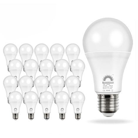Pack 20 Bombillas LED Bajo Consumo AVILA A60 10W con 850 Lm. · 6500K Blanco Frío