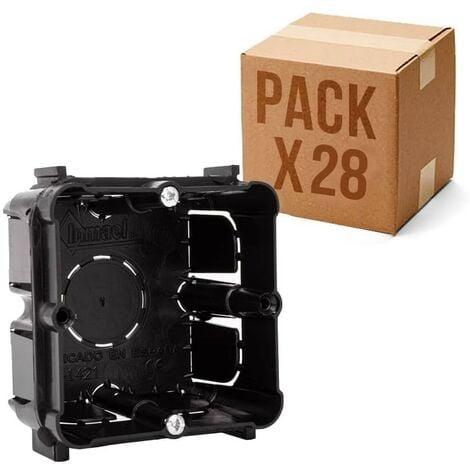 Pack 20 Cajas universales de empotrar enlazable mecanismos