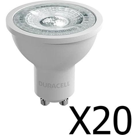 Pack 20 spots Duracell LED GU10 4,4 W / 50W