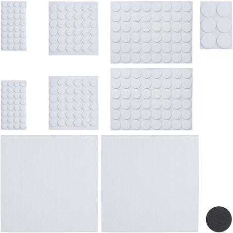 Pack 240 Piezas Fieltro Adhesivo para Muebles con 2 Hojas Papel Fieltro para Recortar, Blanco