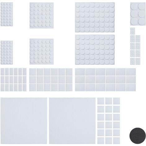 Pack 2400 Piezas Fieltro Adhesivo para Muebles con 20 Hojas Papel Fieltro para Recortar, Blanco