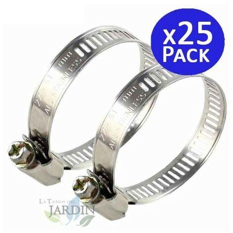 Pack 25 Abrazadera metálica para tubos de 77mm. Recomendado para mangueras Layflat