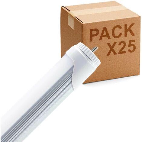 Pack 25uds Tubo LED T-8 10W 60cm fijo high power
