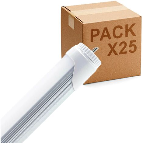 Pack 25uds Tubo LED T-8 120cm fijo high power