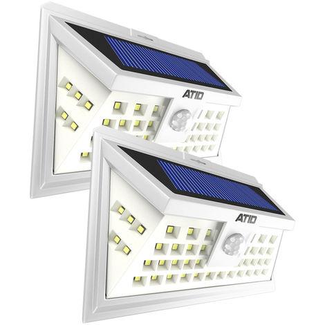 Pack 2x Atid Focos Solares Exterior 46 Led Luces Solares Led Jardin