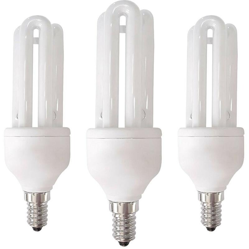Pack 3 Bombillas CFL Bajo Consumo 3U E14 11W 605lm 2700K 7hSevenOn