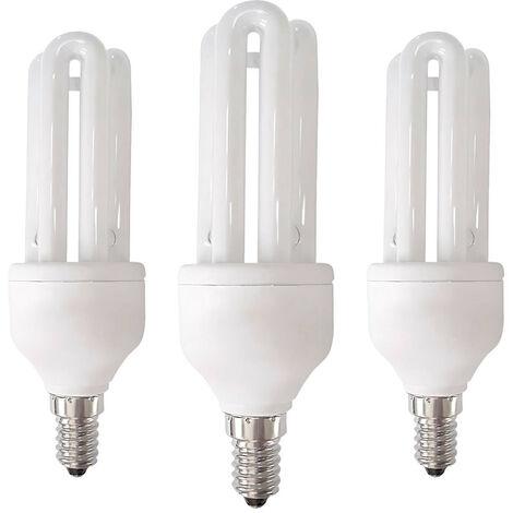 Pack 3 Bombillas CFL Bajo Consumo 3U E14 15W 900lm 6400K 7hSevenOn