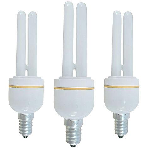 Pack 3 Bombillas CFL Bajo Consumo Mini 2U E14 11W 528lm 2700K 7hSevenOn