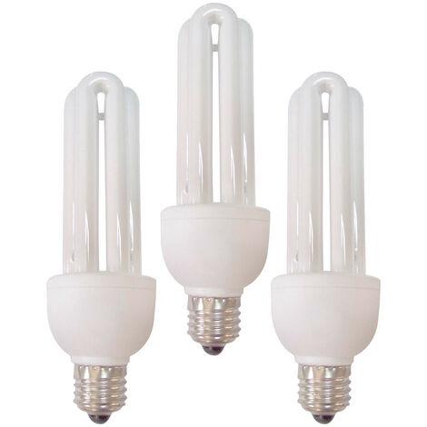 Pack 3 Bombillas CFL Bajo Consumo Mini 3U E27 20W 1200lm 6400K 7hSevenOn