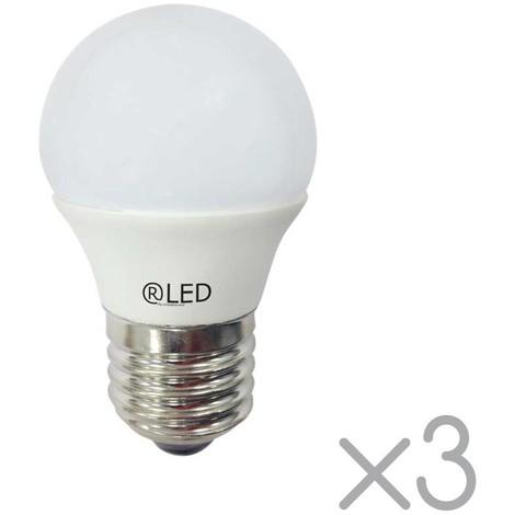 Pack 3 bombillas E27 cálidas (5.2W)