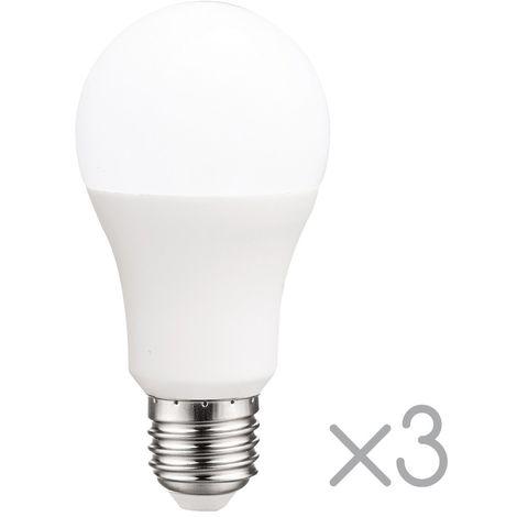 Pack 3 Bombillas LED E27 estándar 10 W (Luz fría)