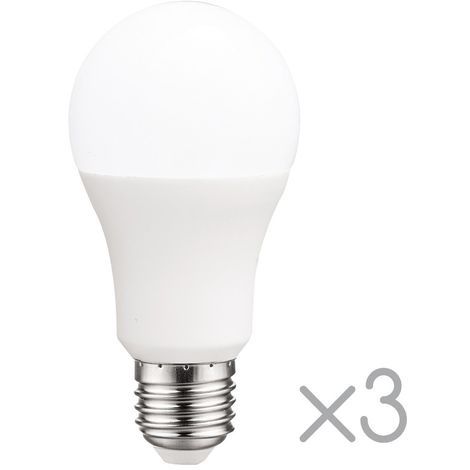 Pack 3 Bombillas LED E27 estándar 10 W (Luz neutra)