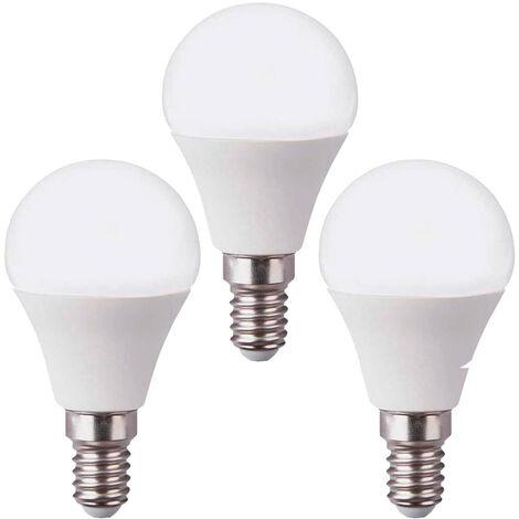 Pack 3 Bombillas LED Esférica E14 6W Equi.40W 470lm 15000H 7hSevenOn