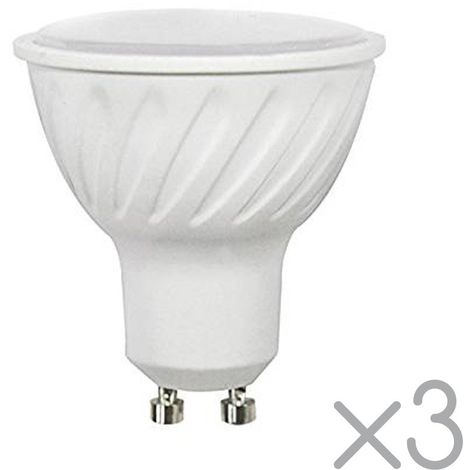 Pack 3 Bombillas LED GU10 6.2 W (Luz neutra)