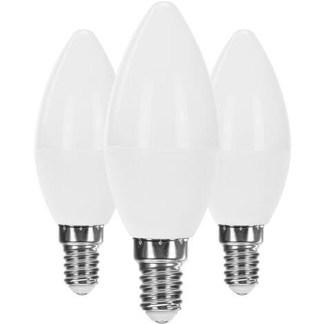 Pack 3 Bombillas LED Vela E14 6W Equi.40W 470lm Raydan Home