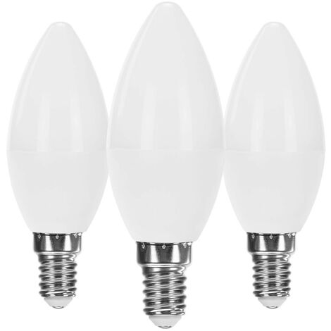 Pack 3 Bombillas LED Vela E14 7,4W Equi.60W 806lm Raydan Home