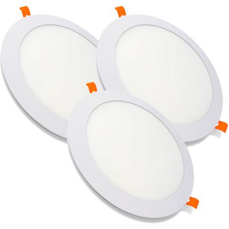Pack 3 Downlight LED Redondo Extrafino Encastrar ECOMAX